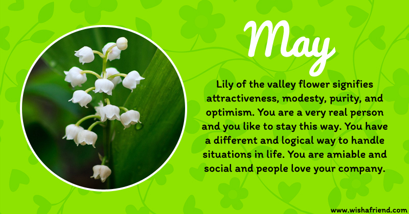 Astrology May Birth Flower