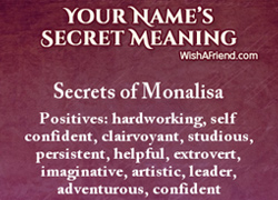 Try Name Secrets to reveal your personality.