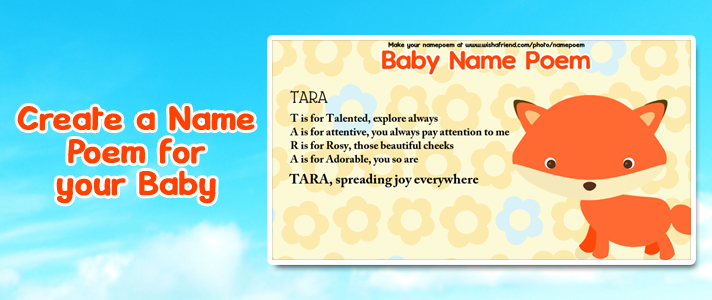 Baby Name Poem Make An Acrostic Name Poem For Your Baby