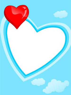 Create Photo Frames Online - Heart