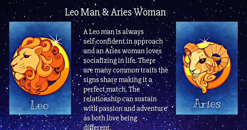 dating a leo man as an aries woman