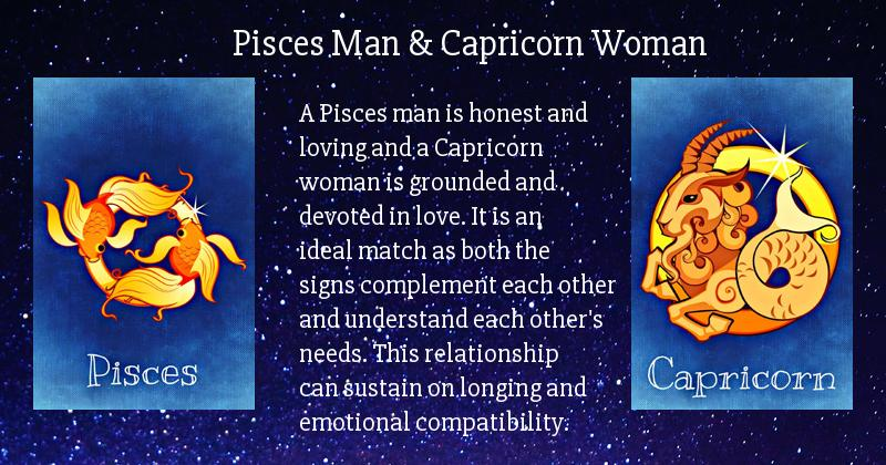 Pisces man and capricorn woman 2018